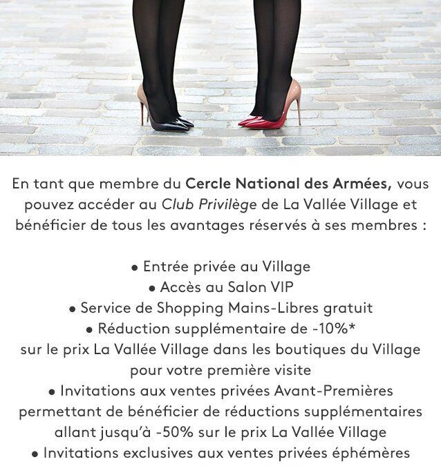 Nouveau partenariat avec Vallée Village